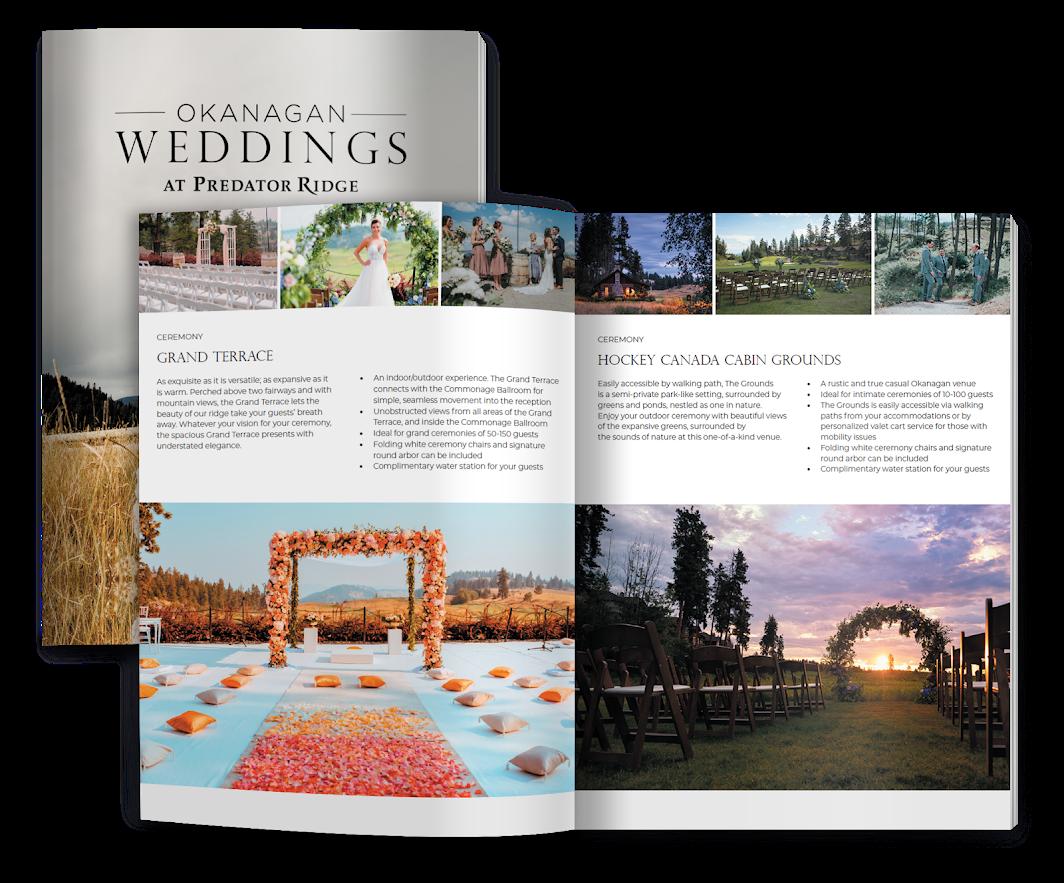 Okanagan Weddings Style guide book at Predator Ridge Resort Vernon BC